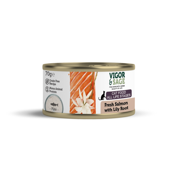 Wet Food Fresh Salmon with Lily Root Cat Food 70g