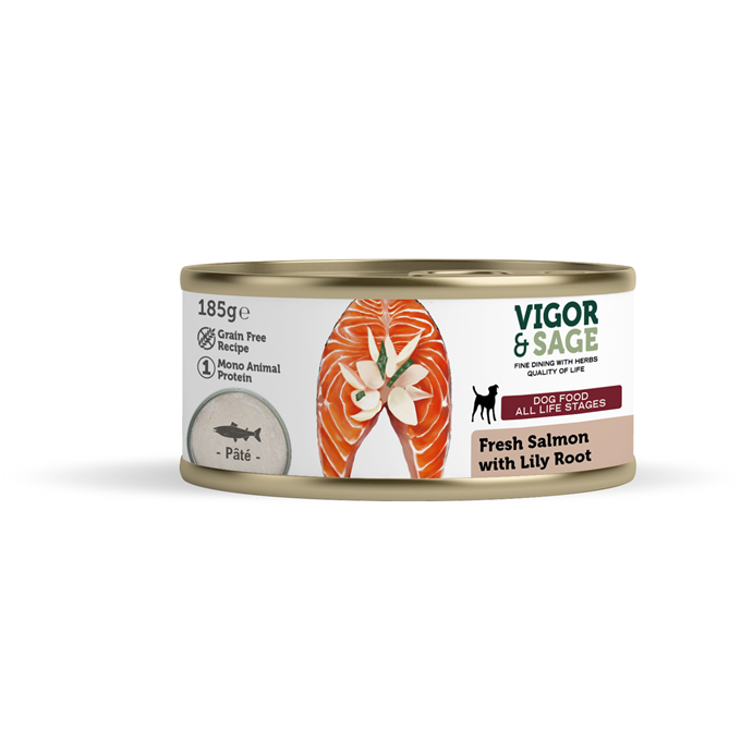 Wet Food Fresh Salmon with Lily Root for dogs 185g